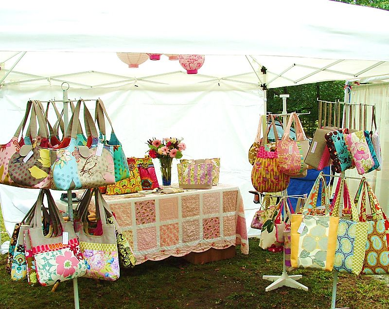 Arts fest booth 2008